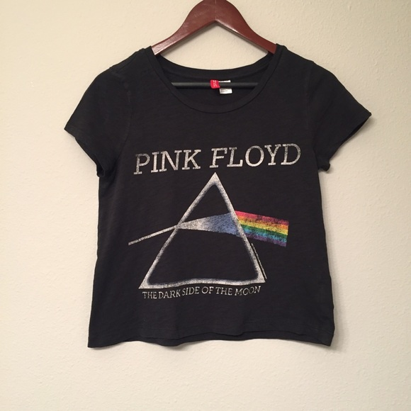 b1d68d25c59 Divided Tops | By Hm Pink Floyd Crop Tee | Poshmark